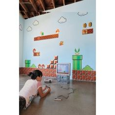 Full of awesome. Blik Wall Decal - Super Mario Bros. ~ Re-Stik