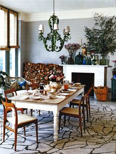 Tabletop color: Rustic Farmhouse meets Scandanavian Modern | Our Little Big House