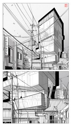 Alexander Daxböck   Highrise Proposal   Tokyo, Japan   https://www.behance.net/alexanderdaxboeck