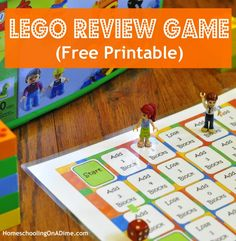 Lego Game Board Printable - great to use for reviewing math facts, spelling, Classical Conversations memory work, etc.