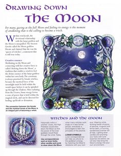 Drawing Down the Moon For many, gazing at the full moon and feeling it's energy is the moment of awakening that is the calling to become a witch. Drawing Down The Moon, Moon Drawing, Moon Spells, Eclectic Witch, Wicca Witchcraft, The Calling, White Witch, Moon Magic, Moon Goddess