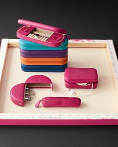 Leather Manicure Set & Jewelry Case - Neiman Marcus