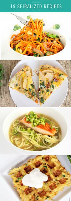 http://www.2uidea.com/category/Vegetable-Spiralizer/ Whip up these creative, healthy, and delicious meals using a spiralizer! Here are19 of the best spiralized recipes.