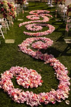 Pink Petal Aisle Decoration