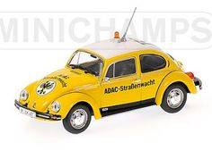 This VW Beetle 1300 ADAC (1983) Diecast Model Car is Yellow and features working wheels. It is made by Minichamps and is 1:43 scale (approx. 8cm / 3.1in long).  ...