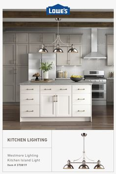 Shop a huge variety of kitchen lighting for every budget in stock now at Lowe's. #budgetfriendly #home #decor