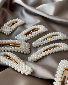 Elegant Women Crystal Rhinestone Pearl Hair Clip Spring Princess Hair Accessory