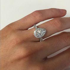 pear shaped dia engagement ring #diamondsinternational #loveDI #marryme #diamonds #engagement #rings #pear #cut #diamond #halo