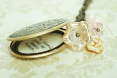 Anne of Green Gables Quote Women's Locket by busybeezchickadeez. $27.00, via Etsy.
