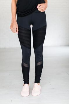 Moto Mesh Leggings ||  workout, fitness, leggings, outfit, style, fashion
