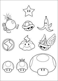 Ausmalbild Super Mario Bros