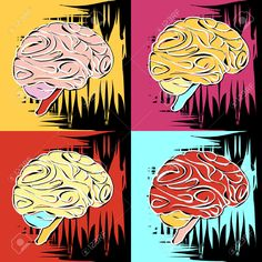 30029032-Painting-in-the-style-of-Andy-Warhol-four-squares-with-a-sketch-of-the-human-brain-Stock-Vector.jpg (1300×1300)