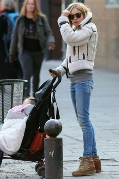 Sienna Miller wearing Isabel Marant Nowles Boots and Illesteva Leonard II Sunglasses