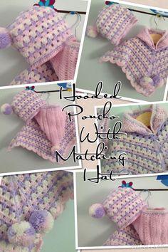 Babys Crochet Poncho with Hood