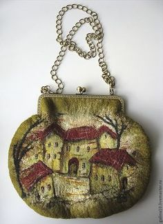 "art bag ""houses"" by Galina Goncharova"