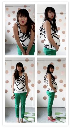 {iMac photobooth pics at 25 weeks, pants by Zara, shoes by Kate Spade, top by Whit}