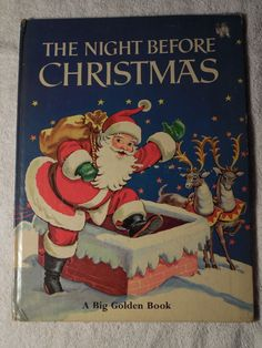 Big Golden Book 1969 The Night Before Christmas Clement C Moore Malvern