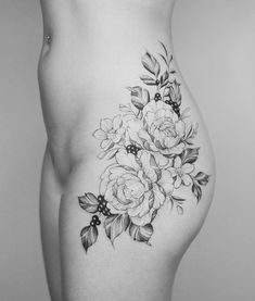 Floral hip piece for her first