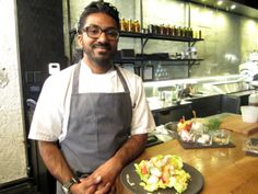When the weather turns warm, the Donnelley Group's chef Alvin Pillay combines butter lettuce with roasted sturgeon and pickled veggies for a healthy salad at home.