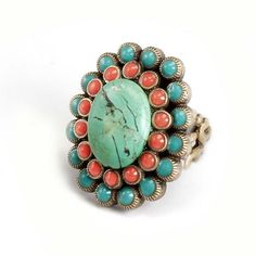Coral and turquoise ring :)
