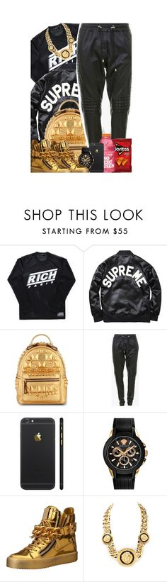 """""""Odell Beckham Jr."""" by queenie-unique ❤ liked on Polyvore featuring Joyrich, Golden Hook, MCM, Balmain, Versace, Giuseppe Zanotti, men's fashion and menswear"""