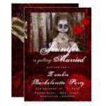 ZOMBIE BRIDE DOLL Bachelorette Party Halloween Card #halloween #happyhalloween #halloweenparty #halloweenmakeup #halloweencostume