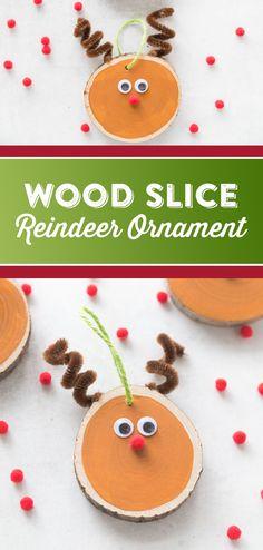 DIY Wood Slice Reind