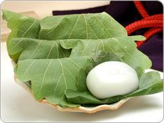 Oak leaf rice cake : KASHIWA MOCHI  we eat in children's day in May 5 .