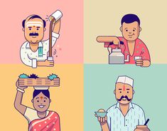 Last year, I had a unique opportunity to collaborate with Invision and the incredible designer Jack Daly to create 3 of conceptual illustrations for the Design Genome Project. Indian Illustration, Outline Illustration, Flat Design Illustration, Character Illustration, Digital Illustration, Indian Folk Art, India Art, Creative Advertising, Branding