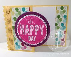 Happy Birthday z fold card using the Stampin' Up! Starburst Sayings stamp set.