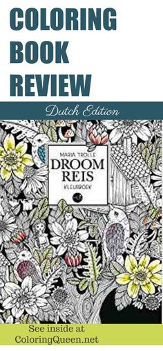 See inside Droomreis Coloring Book which is the Dutch imprint of Vivi Soker en Van by Maria Trolle - full comparison review - decide which book you like