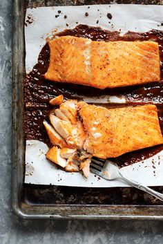 Spicy Maple Glazed Salmon  - CountryLiving.com