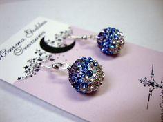 Purple Aqua Crystal Earrings by MommaGoddess on Etsy $15 #UWIB
