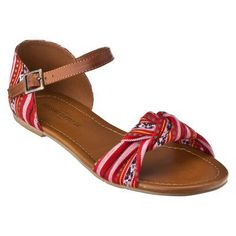 Womens Mossimo Supply Co. Wilton Flat Sandal w/ Ankle Strap - Assorted Prints.