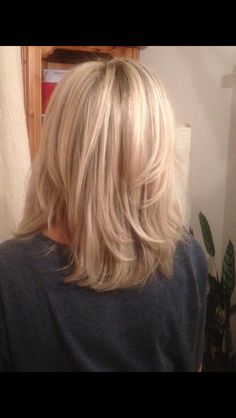 Ash highlights with blonde honey tones