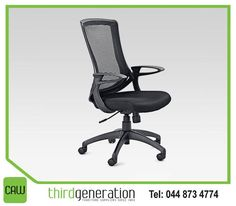 Comfort in the office, boosts the productivity of employees. Get this #Noir office chair available from #ThirdGenerationCAW. This chair is the perfect blend between sophistication and comfort and is built with quality materials to ensure they last.