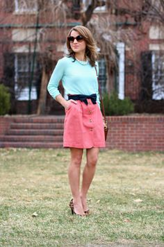 mint and pink-perfect spring combo