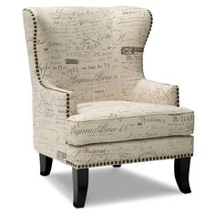 Perfect accent chair for my bedroom! Avignon Upholstery Accent Chair - Value City Furniture Formal Living Rooms, My Living Room, Living Room Chairs, City Living, Dining Chairs, Nursery Chairs, Bedroom Chair, Living Spaces, Dining Room