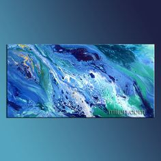 Original abstract acrylic painting on canvas  Title of the painting: The Beach Size of the painting: 48″ x 24″ Style : Abstract Medium : Acrylic on canvas Original painting  All my original paintings are signed on front and back. You will receive a Certificate Of Authenticity too. The painting is ready to hang.  No framing needed unless preferred.  100% Hand painted. Not a print of any kind, signed by Milen. My website: http://milen.com You are buying directly from the artist. Milen has…