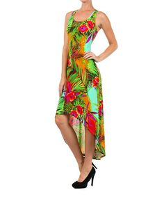Look what I found on #zulily! Red Floral Hi-Low Dress #zulilyfinds