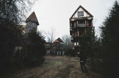 An unmanned drone recently stumbled upon this abandoned Renaissance Faire in Fredericksburg, Virginia