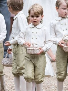 Prince George and other pageboys at his aunt Pippa