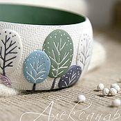 "Handmade Jewelry. Fair Masters - handmade Bracelet ""Winter Garden"" from polymer clay in pastel colors. Handmade."