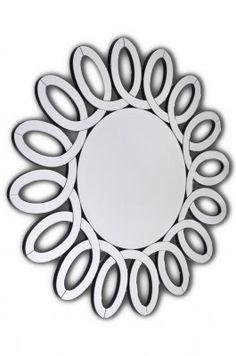 Lustro Isotta  Piękne okrągłe lustro w ażurowej ramie wyklejonej wyciętymi, fazowanymi kawałkami lustra. Rama w kolorze czarnym. Doskonale pasuje do wnętrz nowoczesnych i stylowych jako lustro dekoracyjne, a do tego w pełni funkcjonalne. Mirror, Furniture, Home Decor, Interior Design, Home Interior Design, Arredamento, Mirrors, Home Decoration, Decoration Home