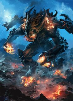 fire lava Colossus by neisbeis on deviantART