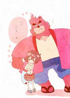 The Boy and the Beast #Kumatetsu #Kyuta (by ことり)