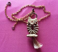 Vintage macrame own necklace