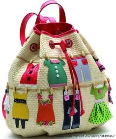 Looks like a crocheted bag with leather straps and trim, appliqued . Looks like a crocheted bag with leather straps and trim, appliqued . Sacs Tote Bags, Tote Purse, Purse Wallet, Patchwork Bags, Quilted Bag, Crazy Patchwork, Patchwork Designs, My Bags, Purses And Bags