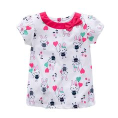 VIDMID baby Girl t-shirt big Girls tees t shirts children blouse t-shirts super quality kids summer clothes rabbit pink brand - Best Kids Clothing Stores OnlineThink of all playful color, lively prints and soft cotton – find all the tops and t-shir Girls Tees, Shirts For Girls, Toddler Girl Outfits, Kids Outfits, Fashion Kids, Style Fashion, Little Girl Dresses, Girls Dresses, Baby T Shirts