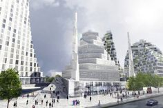 Grand Mosque of Copenhagen by Danish architects, BIG. The mosque design is rooted in modern Scandinavian tradition and strongly inspired by Islamic architecture.